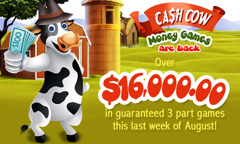 Over $16,000.00 in guaranteed 3 part games this last week of August!